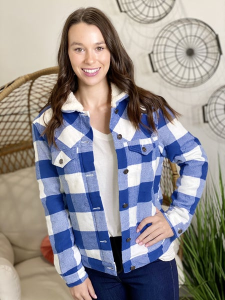 The Checkmate Jacket in Blue