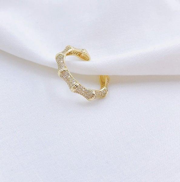 TJ Bamboo Crystal Ring