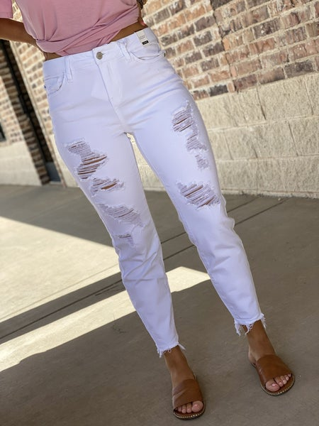 The Leila White Boyfriend Jeans