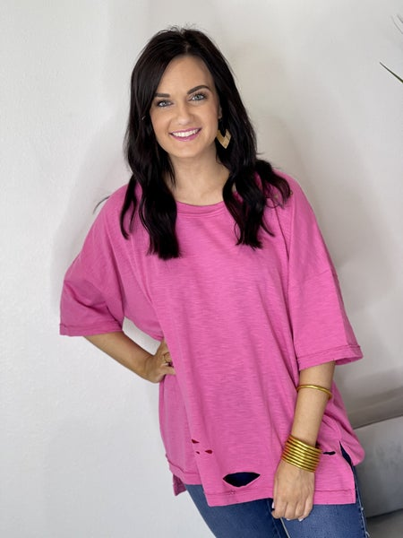 The Tattered Dreams Top in All Sizes - 3 Colors