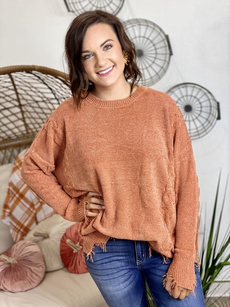 The Nora Sweater in Rust