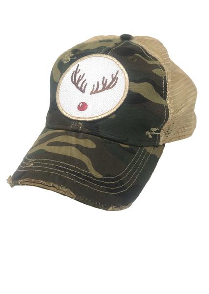 Camo Rudolph Hat