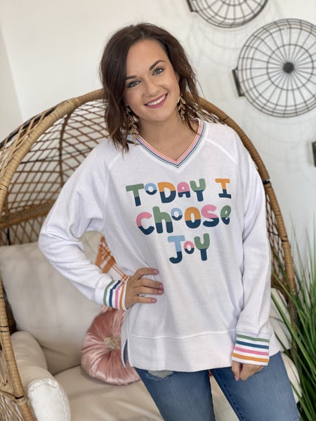 Choose Joy Corded Sweatshirt