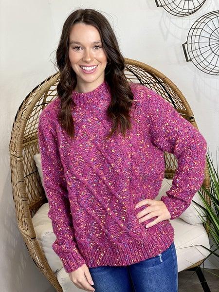 The Magenta Confetti Sweater