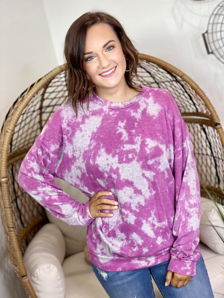 The Alexa Pullover in Pink