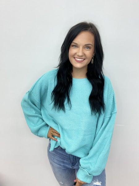 The Aqua Bloom Sweater
