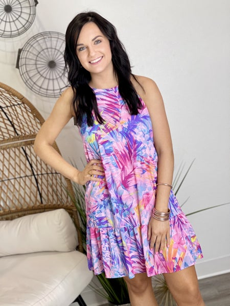 The Watercolor Ruffle Dress