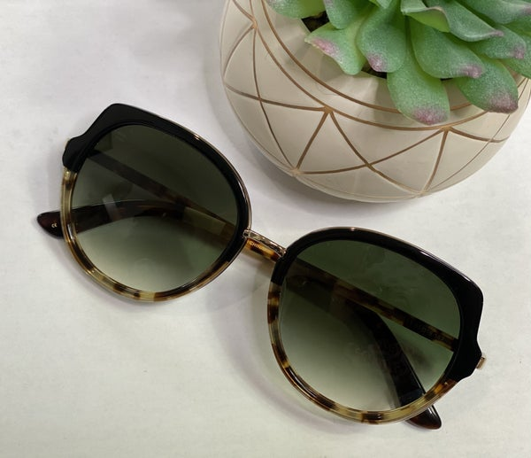 Toms Lottie Sunnies-Black Tort Fade