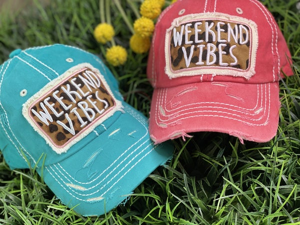 Weekend Vibes Patch Hat-2 Colors