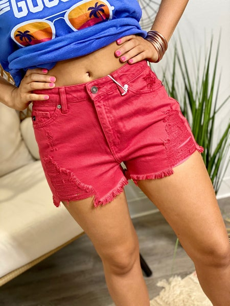 The Heidi Shorts in Red
