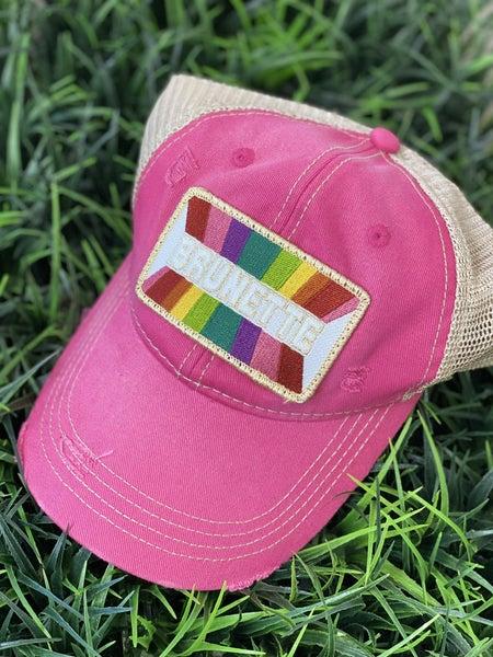 Pink Brunette Hat