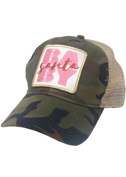Camo Santa Baby Hat