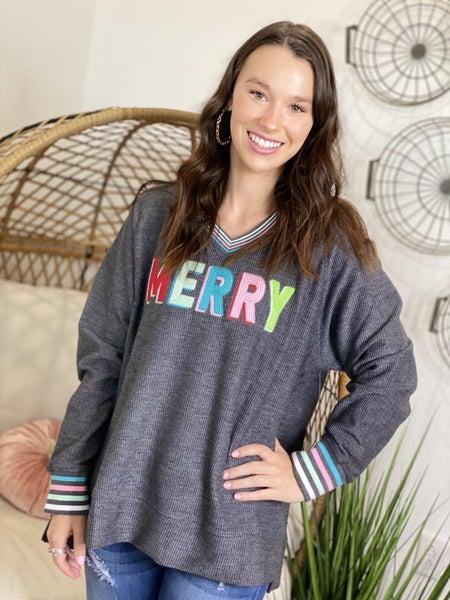 Merry Corded Sweatshirt