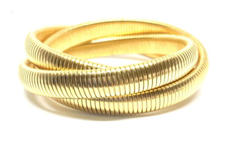 Gold Twisted Cobra Bracelet