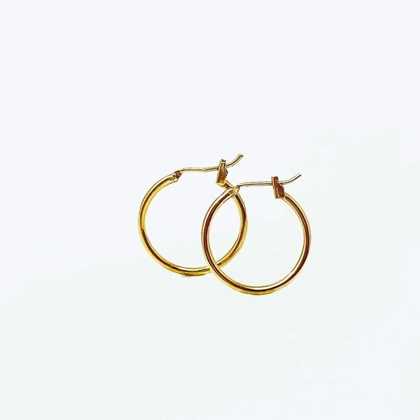 The Pilar Hoops in 2 Colors - 3 Sizes