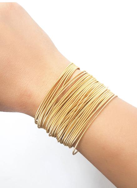 The Gold Guitar String Bracelet Set