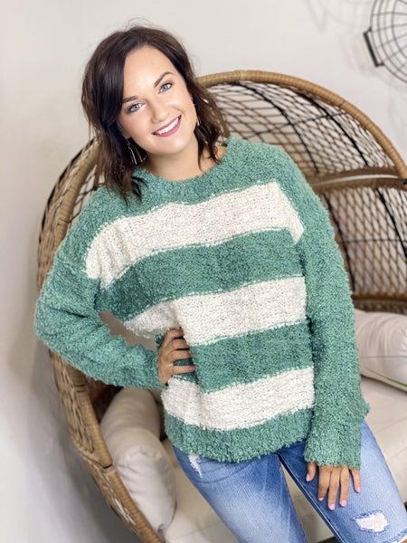 The Spearmint Striped Sweater