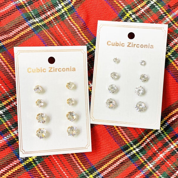 PF Steal #4 - Carded CZ Studs - 2 Styles