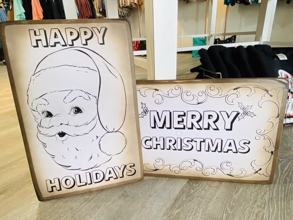 Christmas Color-Me Boards