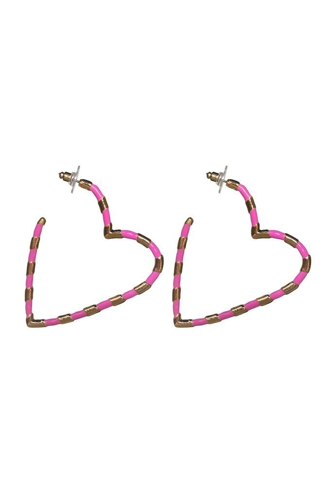 The Heart Hoops - Pink