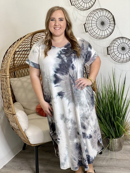 The Curvy Charcoal Dyed Maxi