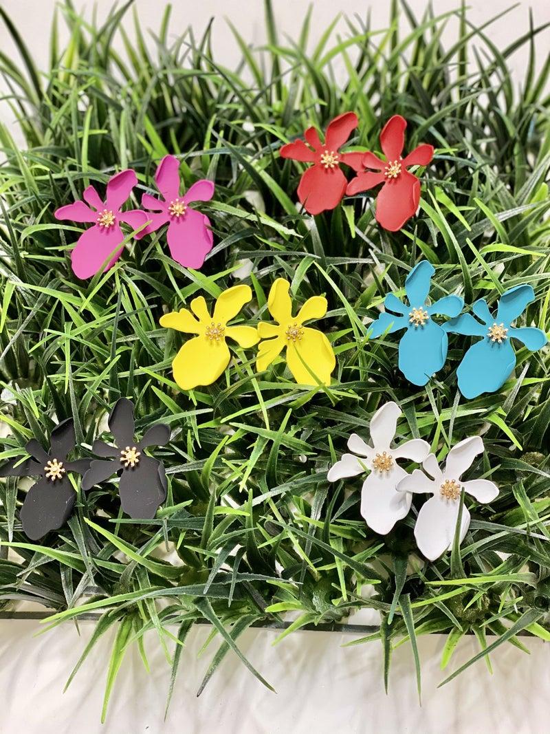 Clay Flower Burst Studs-6 Colors