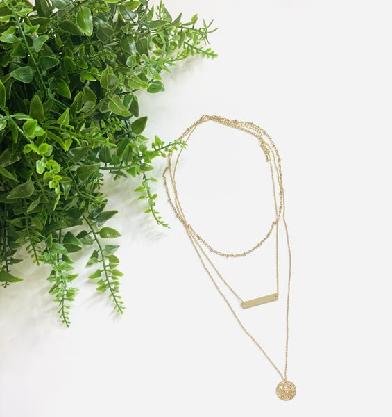 The Tri-Layered Disc Necklace