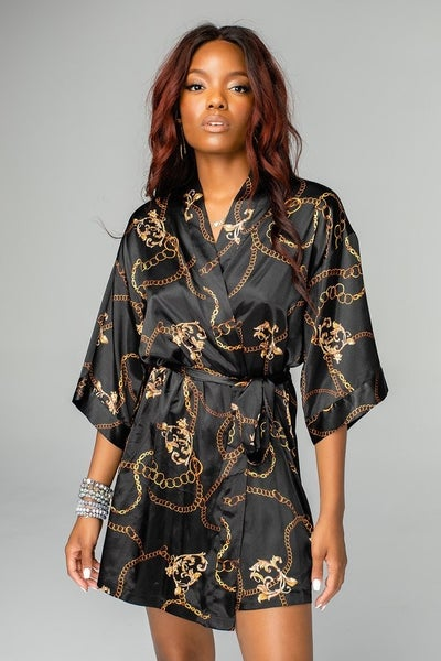 The Hadid Black Chains Robe