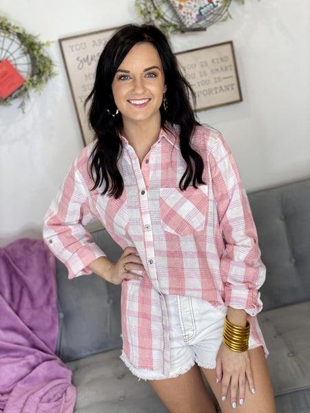 The Blush Fringe Flannel