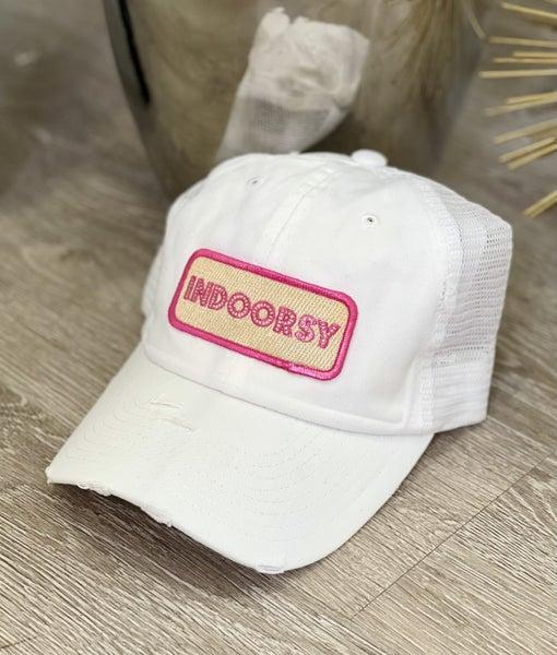 White Indoorsy Hat
