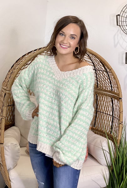 The Mint Mohair Sweater