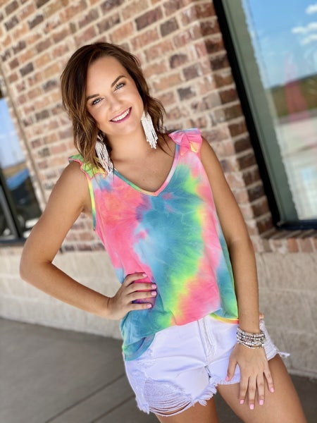 The Ruffle Dyed Tank