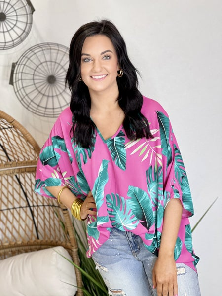 The Tropical Poncho Top