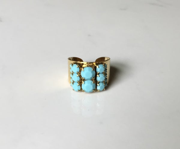 The Turquoise Crystal Ring