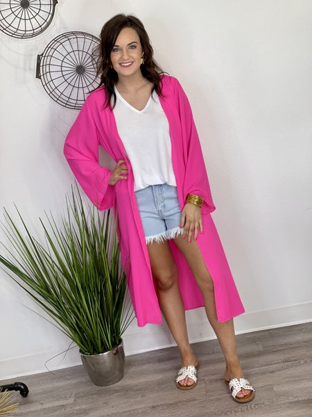 The Hot Pink Short Duster