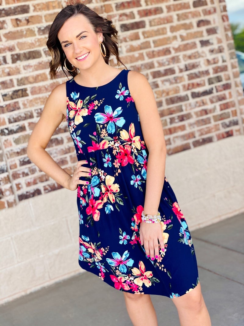 The Angie Dress in Navy