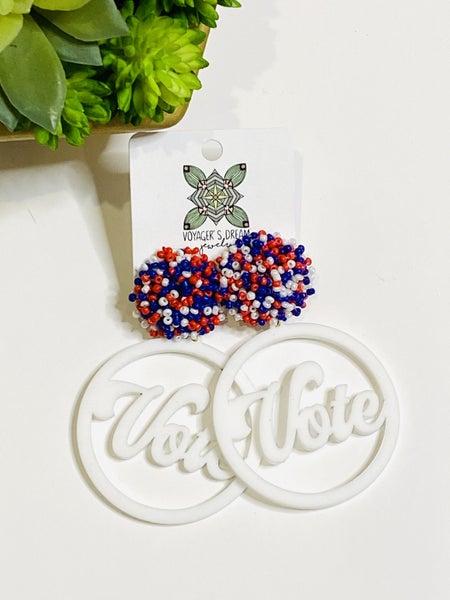 Vote Acrylic Earrings