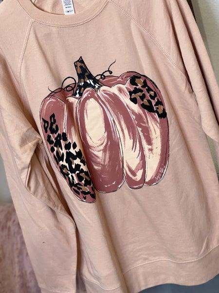 Blush Leo Pumpkin Sweatshirt
