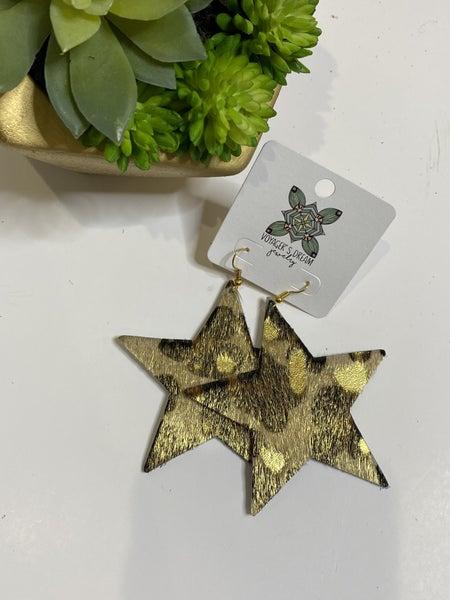 Star Hide Earrings