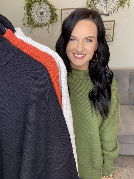 The Tanner Sweater in 4 Colors-All Sizes