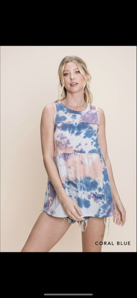 The Dyed Babydoll Knit Tank in 2 Colors - All Sizes