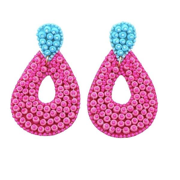The Pink Teardrop Earrings