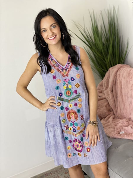The Blue Bellagio Dress-All Sizes