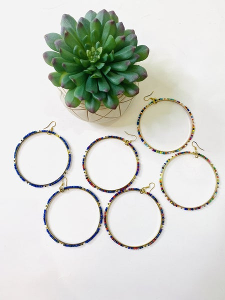 The Confetti Ring Earrings- 3 Colors