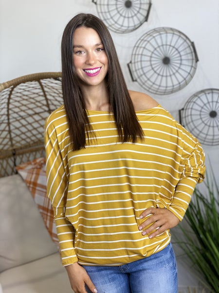 PF Steal #68-Striped Slouch Top in 6 Colors