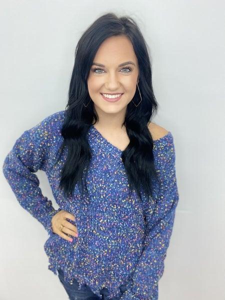 The Blue Confetti Sweater