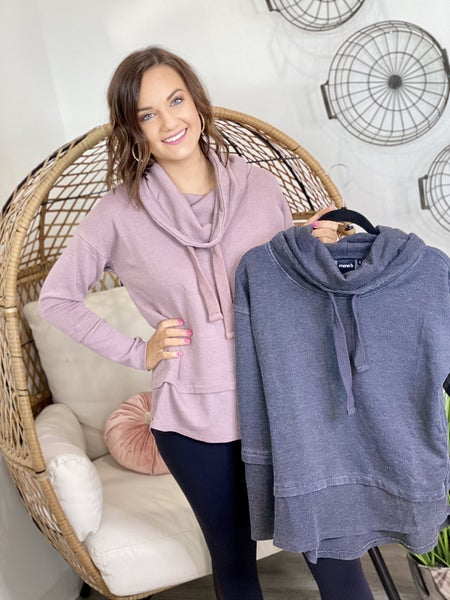 The Mono Cowl Pullover-2 Colors