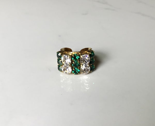 The Deco Emerald Crystal Ring