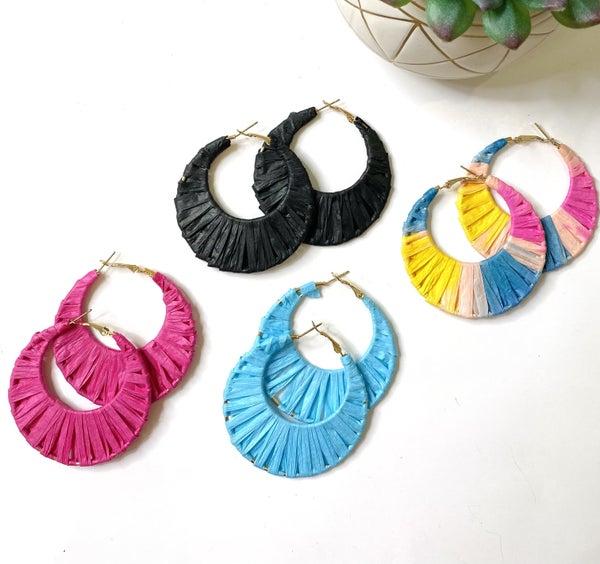 The Raffia Earrings- 5 Colors