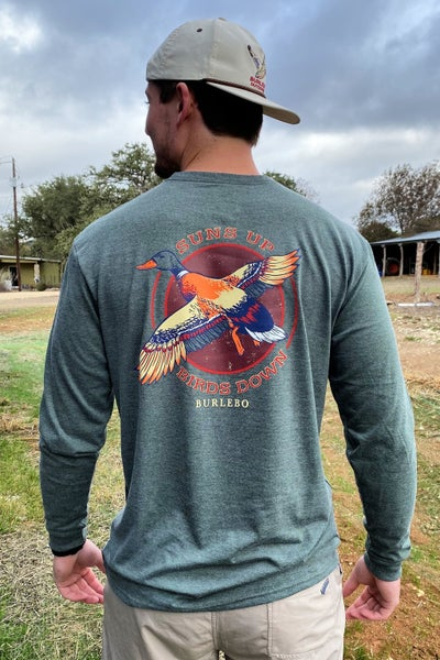Suns Up Birds Down LS Tee